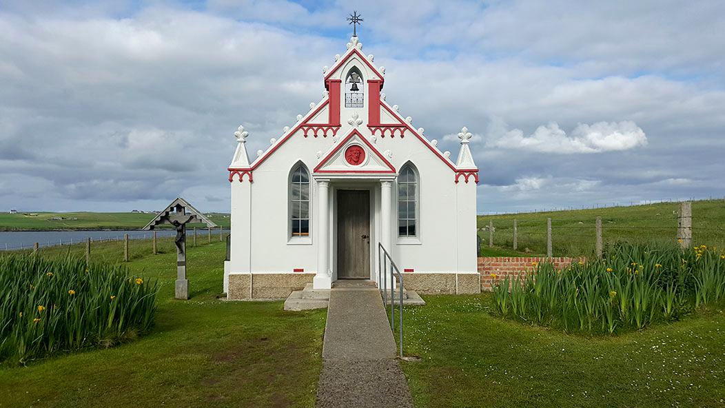 italian chapel entrance