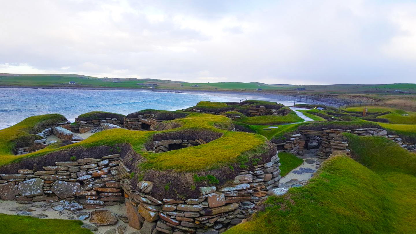 skara brae looking out to the sea