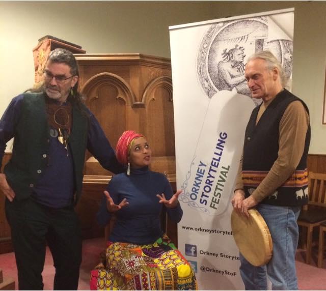the three Orkney Storytelling Festival speakers