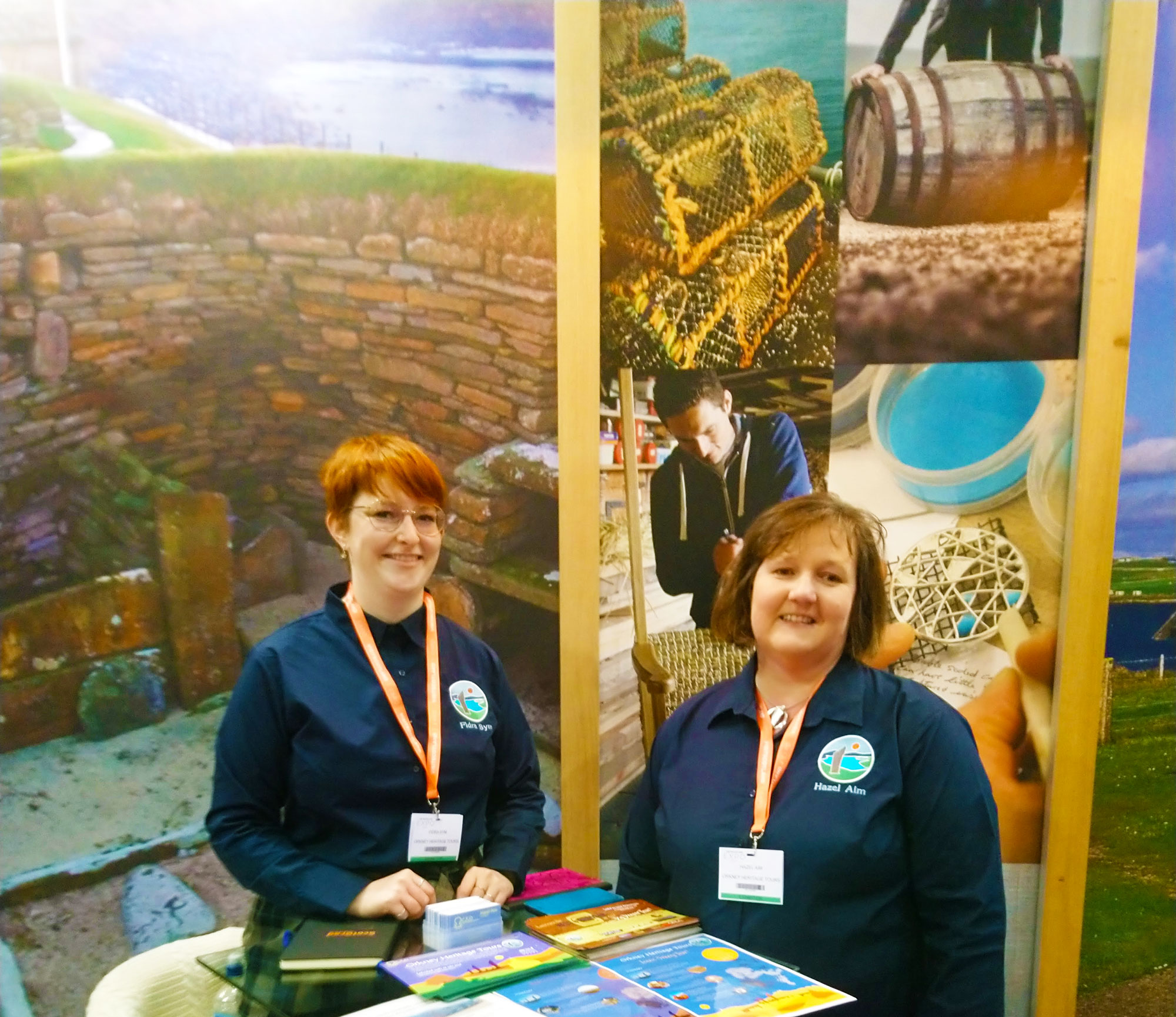 fidra and hazel in uniform at the visit scotland expo 2019