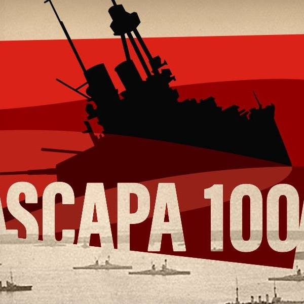 scapa 100 logo is a shadow of a sinking warship